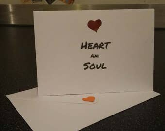 Heart & Soul Greeting Card, Love, Paper Cutting, Joy Division, Friends, Soul Mates