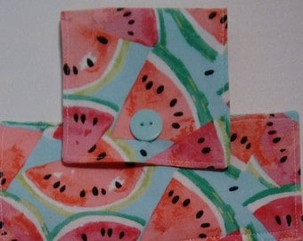 Welcome summer with this Watermelon topped hand/dish hanging towel, pink terry towel with Watermelon topper!