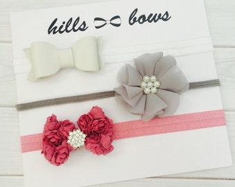 Baby Headbands, Baby Girl Bows, Baby Girl Headbands, Baby Bows, Baby Headband Set, Newborn Headbands, Infant Headbands, Baby Bows