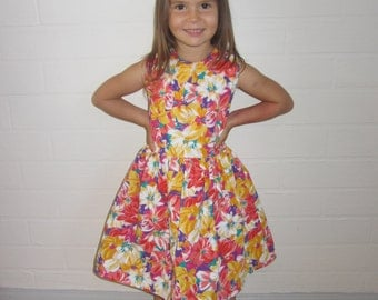 Chloe - Yellow Floral (Fully Reversible)