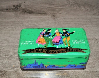 biscuit metal box the gavottes