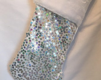 Personalized glitter Christmas Stocking