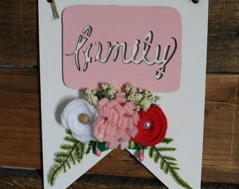 Family Wooden Pennant