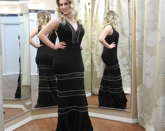CUSTOMIZABLE Floor-Length Dress / Rhinestone Finishes / Multiple Colors / Always Your Size