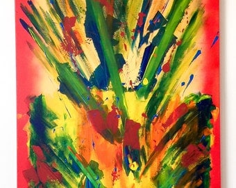 Celebration. 24x36 Acrylic Canvas Painting. Abstract.