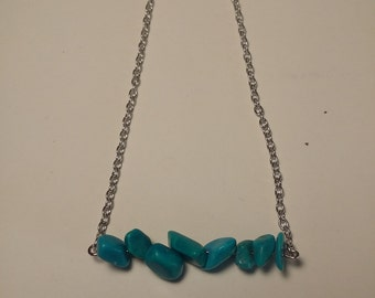 Turquoise Chip beaded Necklace