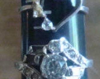 SALE 3 Vintage Sterling Silver Rings (Need a little TLC)
