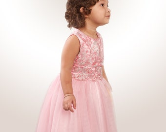 Lace Rose Quartz Party Dress