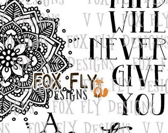 A negative mind will never give you a positive life mandala yoga SVG Cricut Silhouette