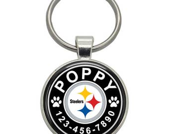 Pet ID Tag - Pittsburgh Steelers - Pet Tags,  Dog Tags, Cat Tags, Dog ID Tags, Cat ID Tags