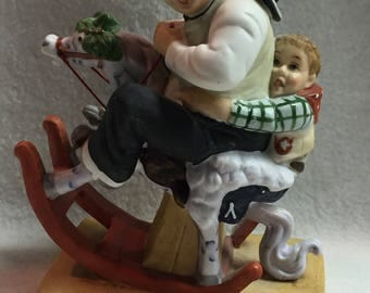 """Danbury Mint - Norman Rockwell """"Gramps at the Reins"""" (#089)"""