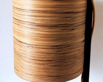 """Table light, Handmade, """"Zappy"""" Wooden light made of mahogany and veneer zapatero."""
