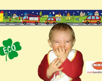 ECO kids trim: fire night - borders for children, border for allergy sufferers, wall border, nonwoven, wall trims, fire
