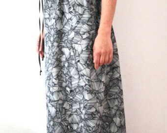 Long transforming summer dress with open back