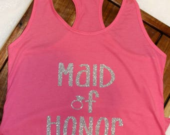 Maid of Honor racer-back tank