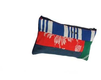 Handmade patchwork toilettries bag