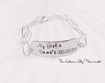 My Give a Damn's Busted Lyric Inspired Jodee Messina Bracelet