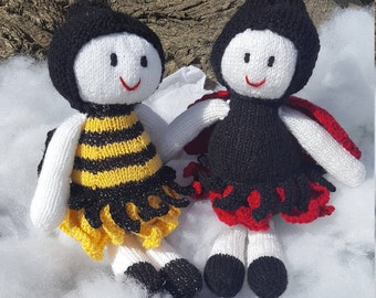 Lady bird/Bee garden fairies