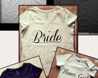 Bridesmaid T-shirt Wedding Tee Bachelorette Tshirt Bridal Party Shirt Party Top Gift For Her Engagement Stagette Destination Wedding tee
