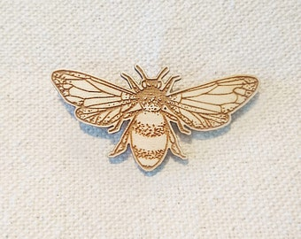 Bumble Bee Brooch  |  Laser Cut  |  Present / Gift  |  Bee Lapel Pin  |  Cute