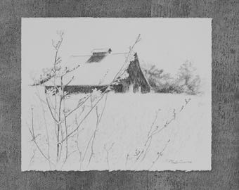 Battlefield Barn Original Drawing
