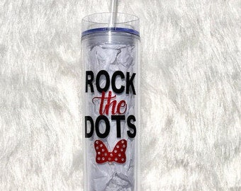 Minnie Mouse- Rock the Dots Tumbler