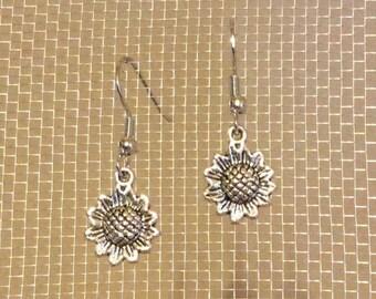Sun flower earrings