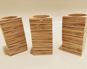 Wooden Votive Candle Holders