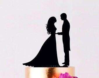 Couple Wedding Cake Topper Cake Topper Custom Wedding Topper Bride and Groom cake topper Personalized cake topper