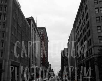 Original Photography - Cityscape, Black and White Print