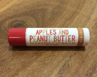 APPLES and PEANUT BUTTER Lip Balm - All Natural - Homemade
