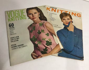 Two 1960's Vogue Knitting Magazines