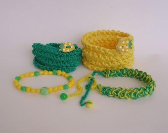 Hippie Bracelet, Boho Jewelry Bracelet, Knitted Bracelet, Кnit necklace, Wrap Bracelet, Bijouterie Bracelet, Сuff bracelet, Gift For Her