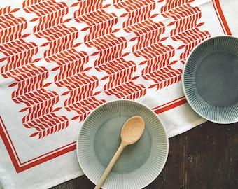 Design Tea towel, linen, Orange