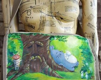 Zelda Totoro Hand Painted Messenger Bag