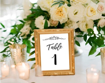 Table Numbers Printable, Number Signs, Reserved Signs, Wedding Prints, Table Numbers, Table Signs, Reserved Prints, Instant Download