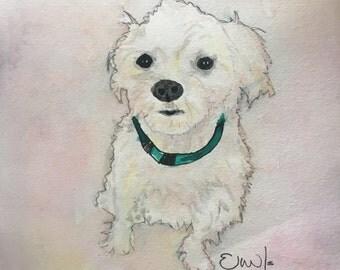 Dogs Portrait, Custom Pet Portrait