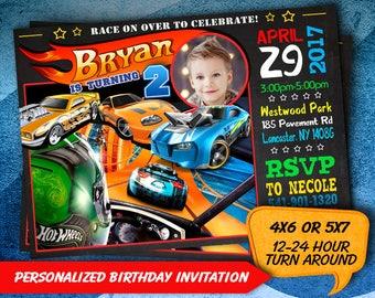 Hot Wheels Invitation / Hot Wheels Birthday Invitation / Hot Wheels Party / Hot Wheels Invite / Hot Wheels Birthday / Hot Wheels Card SS