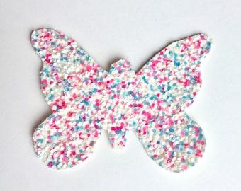Butterfly Headband, Butterfly Clip, Glitter Butterfly, Butterfly Hair Accessories, Toddler Hair Accessories, Cotton Candy Glitter