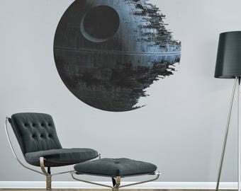 Death Star Wall Decal Star Wars Wall Art Decor Kids Wall Decal Star Wars Death Star Mural Vinyl Wall Decal