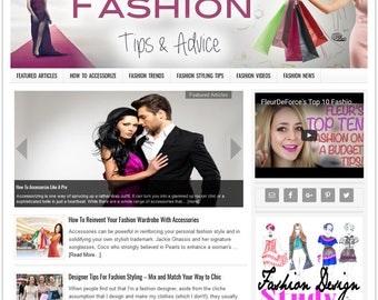 Premade Website | Website Template | Turnkey Website | Blog Design | Website Design | Wordpress Website | Blog Theme | FASHION theme