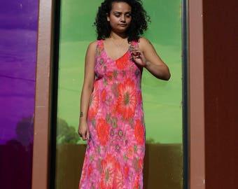 90s Floral Knit Dress