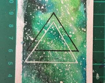 Galaxy bookmark triangle space hipster geometric design gift
