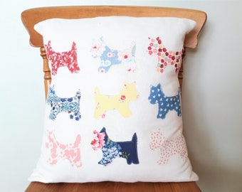 Floral modern farmhouse style pillow cover