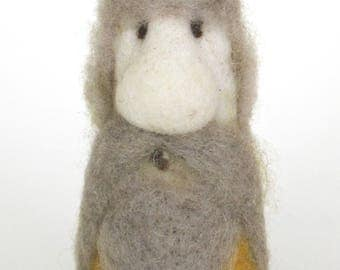 Felted Wool Large Green and Yellow Tomte Gnome