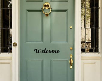 Welcome - Door Vinyl Decal