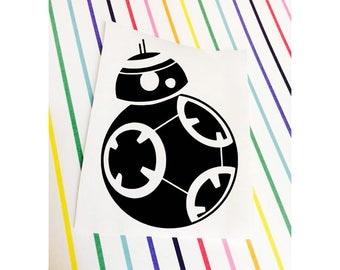 BB8 Decal || Star Wars Decal || BB8 Sticker || Star Wars Sticker || BB8 Star Wars Decal Sticker