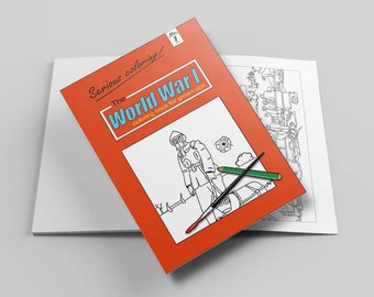 The World War 1 coloring book for grown ups