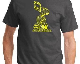 4XLT Tall T-Shirt - Rabid Rabbit - Original Design - Charcoal