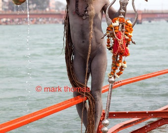 Sadhu on Orange Bridge
